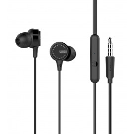 UIISII Earphones U8, heavy bass, mic, 102db, 1.2m, μαύρα