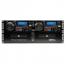 NUMARK CDN-77 USB Dual Rack CD- MP3 Player